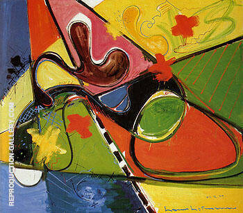 Submerged 1947 Painting By Hans Hofmann - Reproduction Gallery