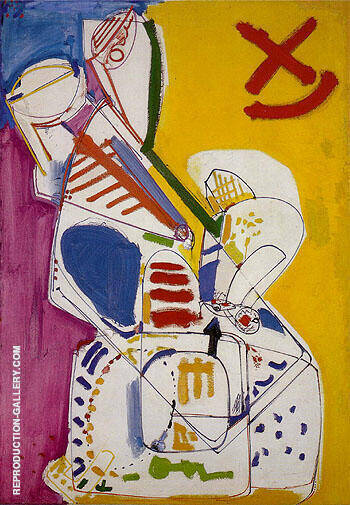 Abstraction B 1947 By Hans Hofmann - Oil Paintings & Art Reproductions - Reproduction Gallery