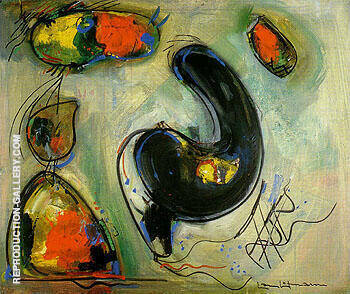 Misterious Approach II 1946 By Hans Hofmann - Oil Paintings & Art Reproductions - Reproduction Gallery