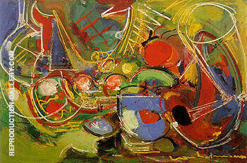 Abundance 1947 By Hans Hofmann - Oil Paintings & Art Reproductions - Reproduction Gallery