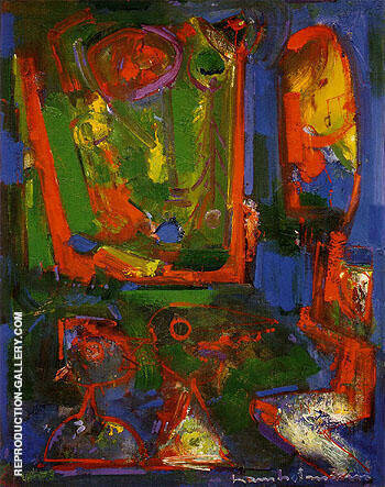 Asklepois 1947 Painting By Hans Hofmann - Reproduction Gallery