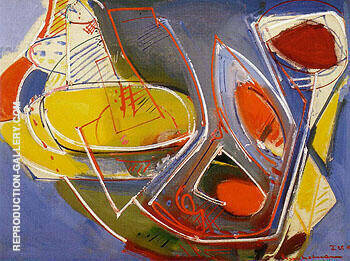 Obliquite 1947 Painting By Hans Hofmann - Reproduction Gallery