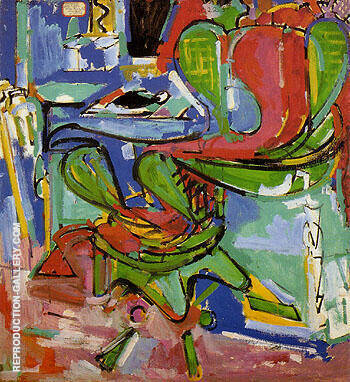 The Wicker Chair Version II 1942 By Hans Hofmann - Oil Paintings & Art Reproductions - Reproduction Gallery