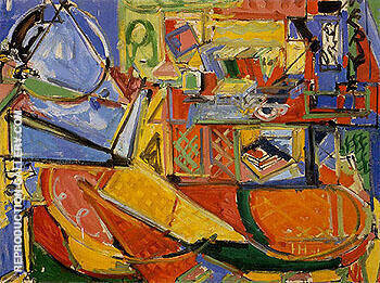 Still Life with Book Painting By Hans Hofmann - Reproduction Gallery