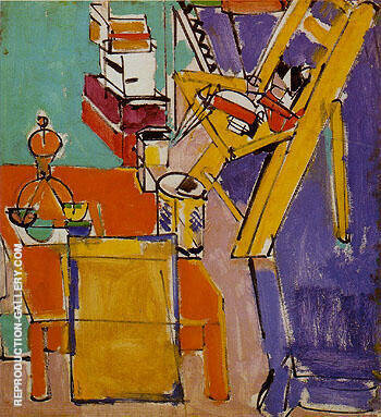 The Artist Version II 1942 Painting By Hans Hofmann - Reproduction Gallery