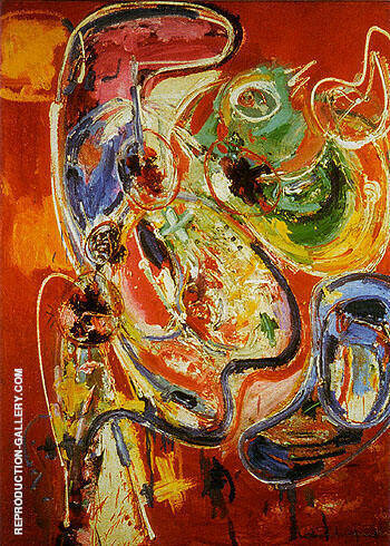 Bacchanale By Hans Hofmann - Oil Paintings & Art Reproductions - Reproduction Gallery
