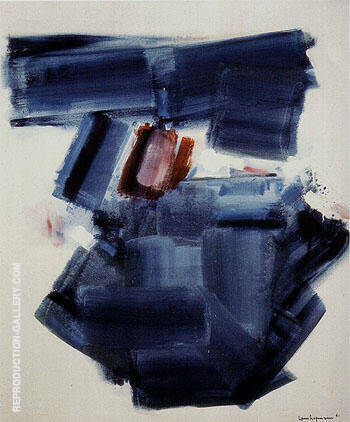 Blue Monolith 1961 By Hans Hofmann