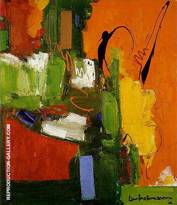 The Lark 1960 By Hans Hofmann - Oil Paintings & Art Reproductions - Reproduction Gallery