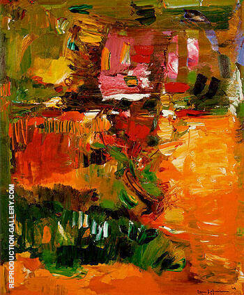 Reproduction of In the Wake of the Hurricane 1960 by Hans Hofmann | Oil Painting Replica On CanvasReproduction Gallery