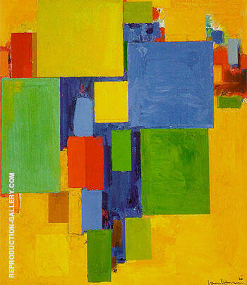 Auxerre France St Etiennes Glorious Light 1960 By Hans Hofmann Replica Paintings on Canvas - Reproduction Gallery