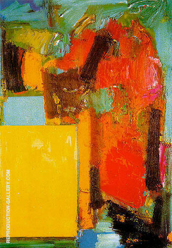 Smaragd Red and Germinating Yellow 1959 By Hans Hofmann Replica Paintings on Canvas - Reproduction Gallery