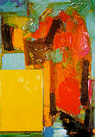 Smaragd Red and Germinating Yellow 1959 By Hans Hofmann