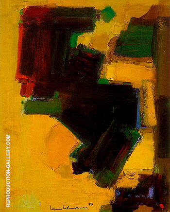 Orbiting Shapes 1959 By Hans Hofmann Replica Paintings on Canvas - Reproduction Gallery