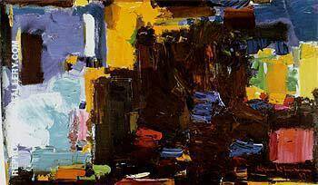 Early Dawn 1957 By Hans Hofmann