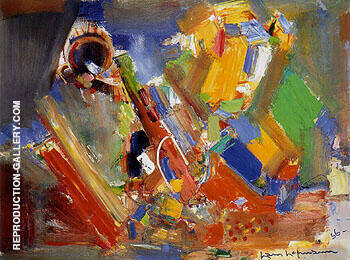 Variation of a Theme in Blue II 1956 By Hans Hofmann - Oil Paintings & Art Reproductions - Reproduction Gallery