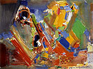 Variation of a Theme in Blue II 1956 By Hans Hofmann
