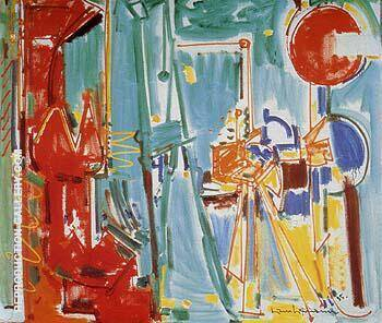 The Artist and His Model II 1955 By Hans Hofmann