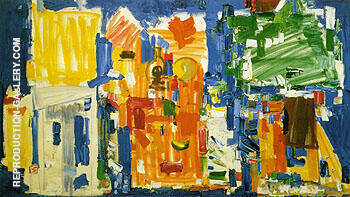 Reproduction of Studio No 2 in Blue 1954 by Hans Hofmann | Oil Painting Replica On CanvasReproduction Gallery