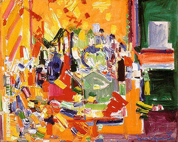 Orchestral Dominance in Yellow 1954 By Hans Hofmann