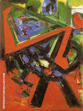 Red Flight 1953 By Hans Hofmann Replica Paintings on Canvas - Reproduction Gallery
