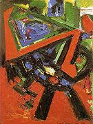 Red Flight 1953 By Hans Hofmann