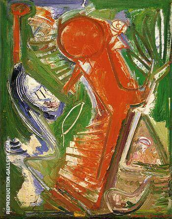 Acension 1952 By Hans Hofmann - Oil Paintings & Art Reproductions - Reproduction Gallery