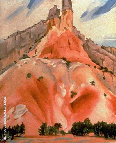 The Cliff Chimneys 1938 By Georgia O'Keeffe - Oil Paintings & Art Reproductions - Reproduction Gallery