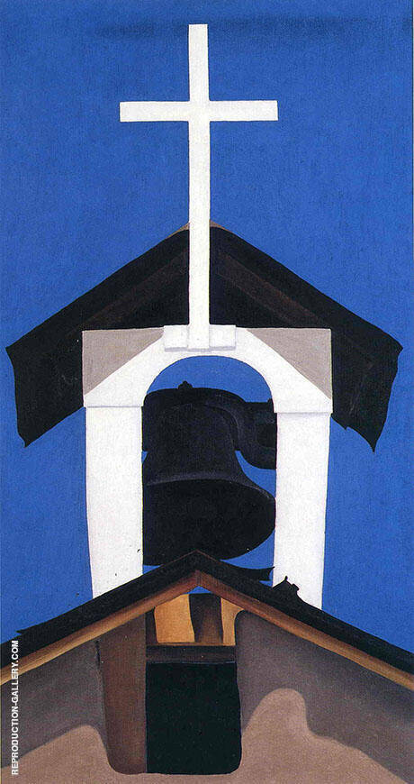 Reproduction of Church Steeple 1950 by Georgia O'Keeffe | Oil Painting Replica On CanvasReproduction Gallery