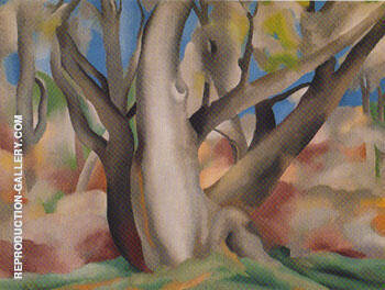Trees at Glorieta New Mexico 1929 By Georgia O'Keeffe Replica Paintings on Canvas - Reproduction Gallery