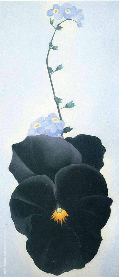 Pansy 1926 By Georgia O'Keeffe - Oil Paintings & Art Reproductions - Reproduction Gallery