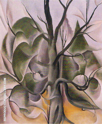 Gray Tree Lake George 1925 By Georgia O'Keeffe - Oil Paintings & Art Reproductions - Reproduction Gallery