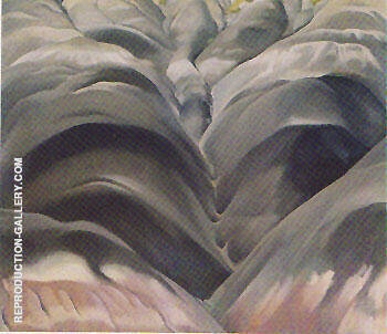Reproduction of Black Place 1 by Georgia O'Keeffe | Oil Painting Replica On CanvasReproduction Gallery