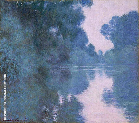 Morning on the Seine near Giverny 1897 Painting By Claude Monet