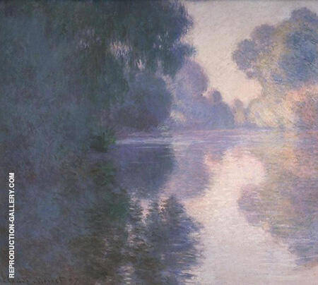 Morning on the Seine Good Weather 1897 By Claude Monet