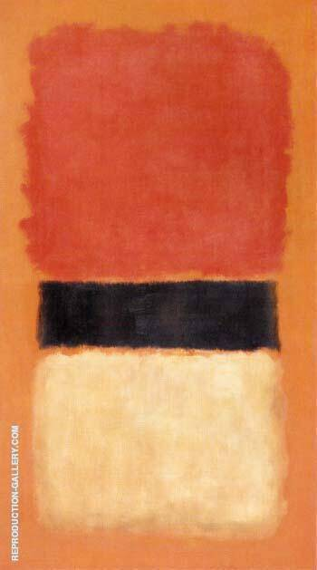 Black Stripe Orange Gold Black 1957 By Mark Rothko