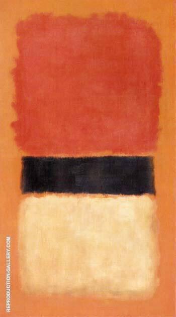 Black Stripe Orange Gold Black 1957 By Mark Rothko
