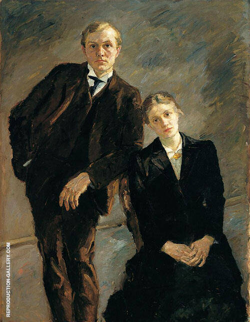 Double Portrait of Max Beckmann and Minna Beckmann Tube 1909 By Max Beckmann