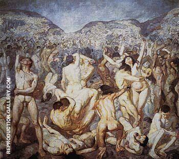 The Battle 1927 By Max Beckmann