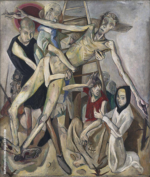 Reproduction of Deposition 1917 by Max Beckmann | Oil Painting Replica On CanvasReproduction Gallery