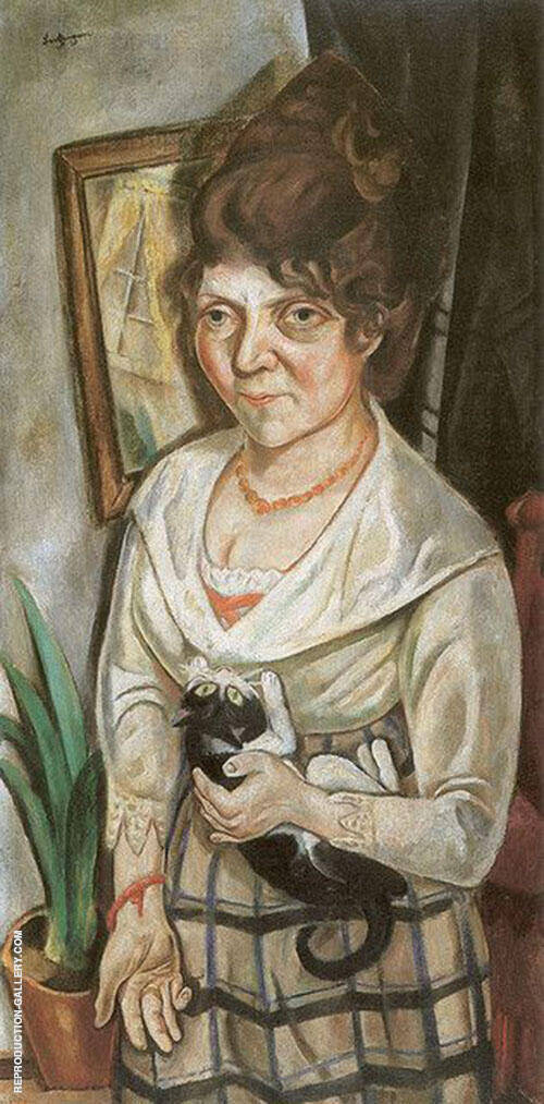 Portrait of Feidel Battenberg By Max Beckmann Replica Paintings on Canvas - Reproduction Gallery