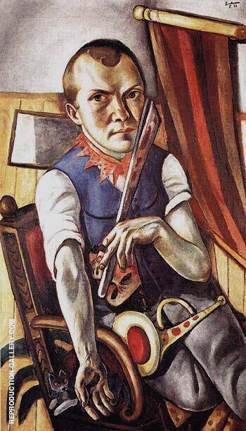 Self Portrait as Clown 1921 By Max Beckmann - Oil Paintings & Art Reproductions - Reproduction Gallery