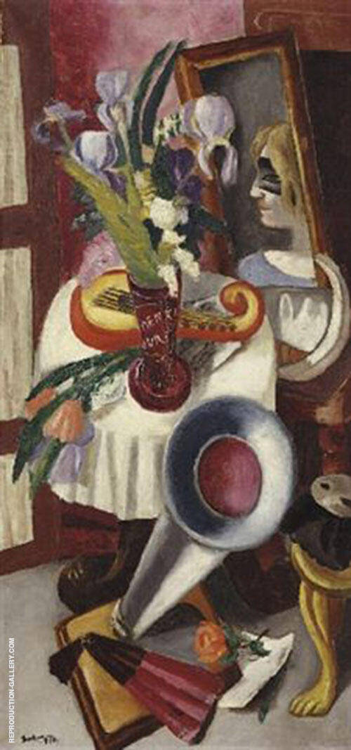 Reproduction of Still Life with Gramophone and Irises 1924 by Max Beckmann | Oil Painting Replica On CanvasReproduction Gallery