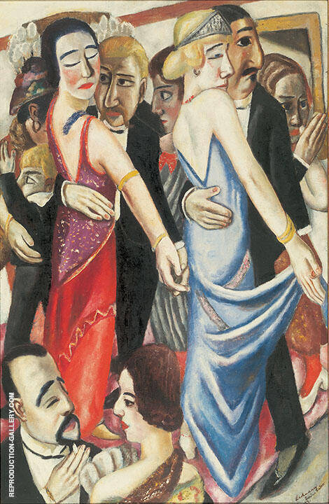 Dance in Baden Baden 1923 By Max Beckmann Replica Paintings on Canvas - Reproduction Gallery