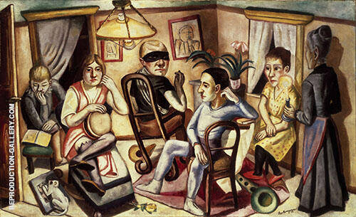Reproduction of Before the Masquerade Ball 1922 by Max Beckmann | Oil Painting Replica On CanvasReproduction Gallery