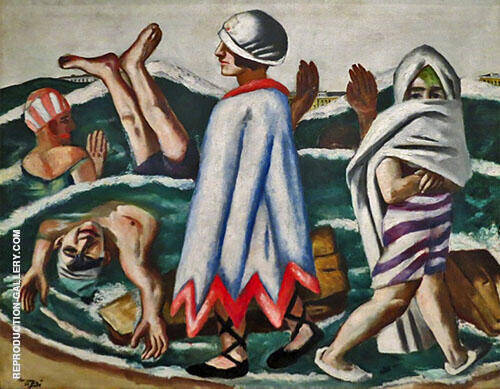Reproduction of Lido 1924 by Max Beckmann | Oil Painting Replica On CanvasReproduction Gallery