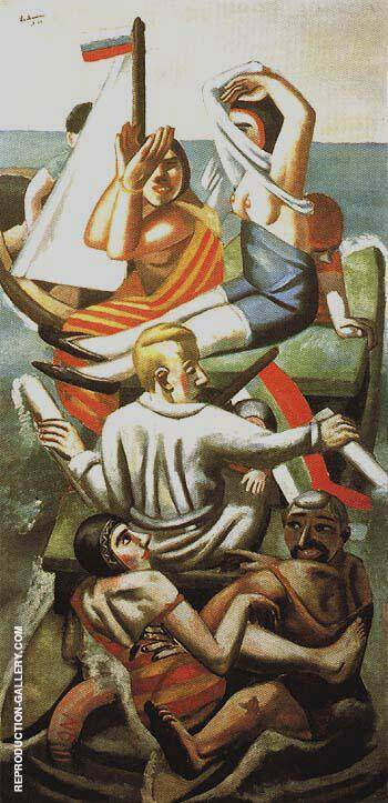The Barque Play of Waves 1926 By Max Beckmann