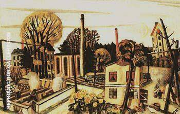 Landscape near Frankfurt am Main 1922 By Max Beckmann