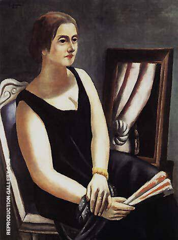 Reproduction of Portrait of Minna Beckmann Tube 1924 by Max Beckmann | Oil Painting Replica On CanvasReproduction Gallery
