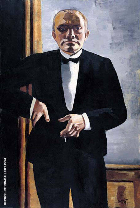 Self Portrait in Tuxedo Painting By Max Beckmann - Reproduction Gallery