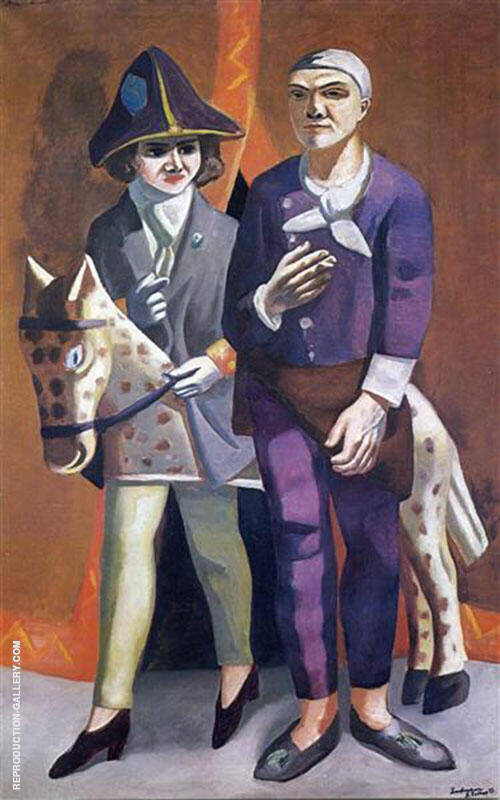 Reproduction of Carnival Double Portrait Max Beckmann and Quappi 1925 by Max Beckmann | Oil Painting Replica On CanvasReproduction Gallery